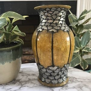 Yellow and Silver Vase